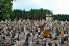 Monumento del campo de exterminación de Treblinka Imagenes de archivo