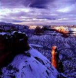 Monumento del Colorado Fotografia Stock