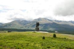 Monumento del comando, montañas - Escocia Imagen de archivo