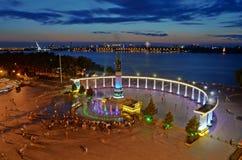 Monumento del control de inundación de Harbin Fotografía de archivo libre de regalías