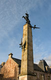 Monumento del cuadrado del halcón de Inverness Imágenes de archivo libres de regalías