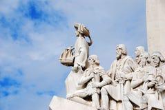 Monumento del descubrimiento de Lisboa Foto de archivo