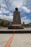 Monumento del ecuador Fotografía de archivo libre de regalías