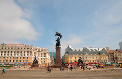 Monumento del ejército rojo Imagen de archivo libre de regalías
