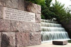 Monumento del FDR Foto de archivo libre de regalías
