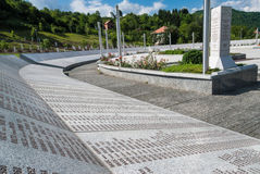 Monumento del genocidio de Srebrenica Imagenes de archivo
