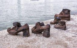 Monumento del holocausto de Budapest Imagen de archivo libre de regalías