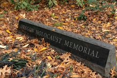 Monumento del holocausto de Oregon fotos de archivo