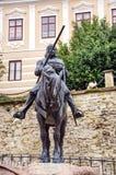 Monumento del hombre con el caballo Imagen de archivo