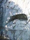 Monumento del leone di Lucerna Fotografia Stock