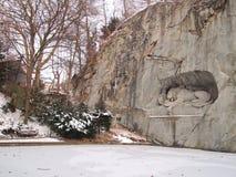 Monumento del leone, Lucerna Fotografia Stock