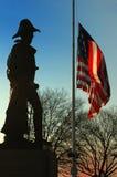 Monumento del mayordomo de Benjamin Franklin, colina federal, Baltimore Fotografía de archivo