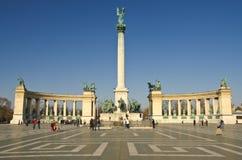Monumento del milenio en cuadrado de los héroes Fotografía de archivo libre de regalías