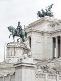 Monumento del monumento de Vittorio Manuel Imagen de archivo libre de regalías