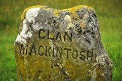 Monumento del monumento del campo de batalla de Culloden imágenes de archivo libres de regalías
