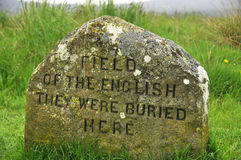 Monumento del monumento del campo de batalla de Culloden foto de archivo
