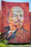 Monumento del mosaico de Vladimir Lenin en la calle de Sochi fotografía de archivo libre de regalías