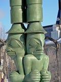 Monumento del palo di totem di tre guardie notturne, Ottawa fotografie stock