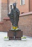Monumento del papa fotografía de archivo