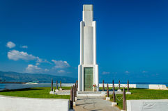Monumento del parque de la playa de Haleiwa Imágenes de archivo libres de regalías