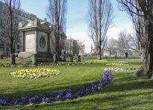 Monumento del parque del untere de Der en la primavera fotografía de archivo libre de regalías