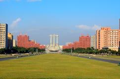 Monumento del Partido Comunista, Pyongyang, Norte-Corea Imagenes de archivo