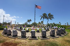Monumento del Pearl Harbor Fotografía de archivo libre de regalías