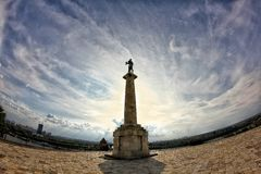 Monumento del pobednik di Belgrado Serbia a kalemegdan Immagine Stock Libera da Diritti