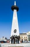 Monumento del renacimiento en el cuadrado de la revolución, Bucarest en Rumania Fotografía de archivo libre de regalías