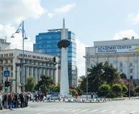 Monumento del renacimiento en el cuadrado de la revolución en el capital de Rumania - Bucarest Fotografía de archivo libre de regalías