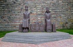 Monumento del rey Jogaila y reina Jadwiga, en Budapest, Hungría Fotos de archivo libres de regalías