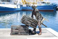Monumento del ` s Fishermens de Fremantle Foto de archivo libre de regalías