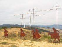 Monumento del ` s del pellegrino - Alto del Perdon immagine stock libera da diritti