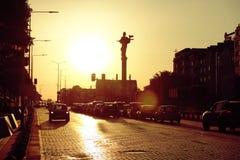 Monumento del santo Sophia At Sunset In Sofia, Bulgaria foto de archivo libre de regalías