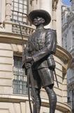 Monumento del soldado del Gurkha, Whitehall, Londres Imagen de archivo
