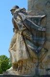 Monumento del soldato di guerra nella giumenta di Baia, Romania Fotografia Stock Libera da Diritti