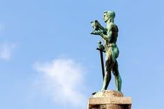 Monumento del vencedor en un día soleado Imagen de archivo libre de regalías