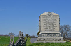 Monumento del Vermont - campo di battaglia nazionale di Antietam Fotografia Stock Libera da Diritti