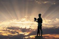 Monumento del vincitore di Belgrado fotografia stock libera da diritti