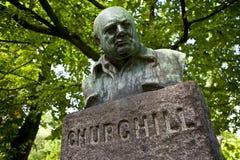 Monumento del Winston Churchill, Copenhaghen Fotografia Stock Libera da Diritti