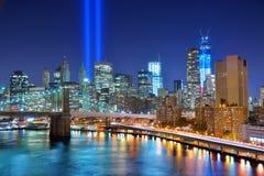 Monumento del World Trade Center Imágenes de archivo libres de regalías