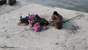 Monumento del zapato en Budapest Fotografía de archivo libre de regalías