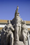 Monumento delante del mausoleo de Mao Imagen de archivo libre de regalías
