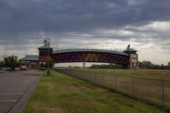 Monumento dell'arco della strada di Great Platte River Immagine Stock