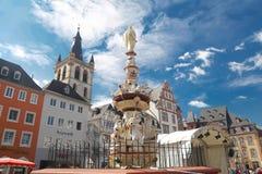 Monumento dell'attrazione nel centro di Treviri immagini stock libere da diritti
