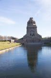 Monumento della battaglia delle nazioni Fotografia Stock