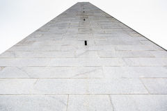 Monumento della collina di bunker a Boston fotografie stock libere da diritti