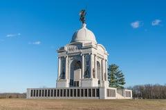 Monumento della Pensilvania al campo di battaglia del cittadino di Gettysburg Fotografia Stock