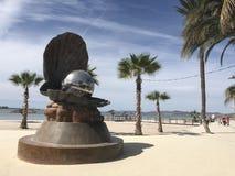 Monumento della perla sulla La Paz Mexico del malecon Immagini Stock Libere da Diritti