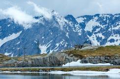 Lago della montagna delle alpi Immagine Stock Libera da Diritti